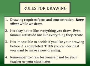 Rules for Drawing